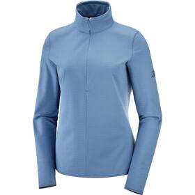 Salomon Outrack Half Zip Shirt Damen copen blue